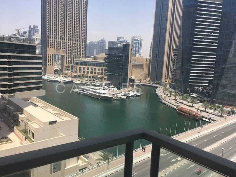2 Large 3BR with Full Marina View in Al Sahab Tower