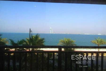شقة 2 غرفة نوم للبيع في نخلة جميرا، دبي - Fully Gurnished 2 bed with Full Sea/Burj al Arab View