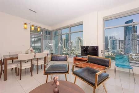 شقة 2 غرفة نوم للايجار في دبي مارينا، دبي - Marina View   Prime Location   Fully Furnished