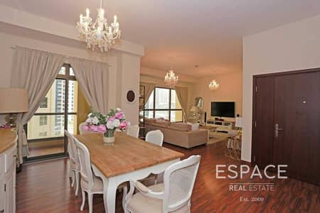 3 Bedroom Apartment for Rent in Jumeirah Beach Residence (JBR), Dubai - Upgraded | Low Floor | Partial Marina View