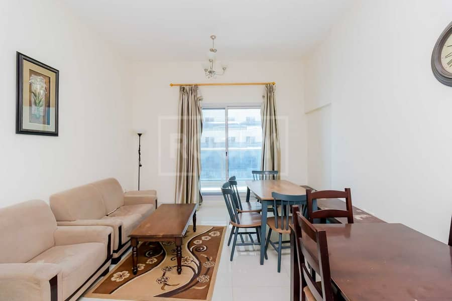 Furnished   1-Bed   Equipped Kitchen   Road View