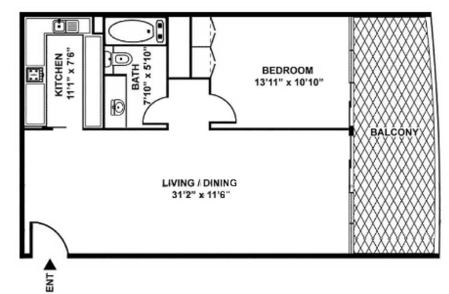 8 Community View | 1 Bed | Downtown Living
