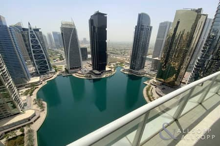 شقة 1 غرفة نوم للبيع في أبراج بحيرات الجميرا، دبي - Largest Layout   Lake View   One Bedroom