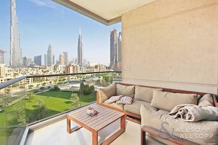 فلیٹ 2 غرفة نوم للبيع في وسط مدينة دبي، دبي - Full Burj Khalifa View | 2 Bed | Vacant