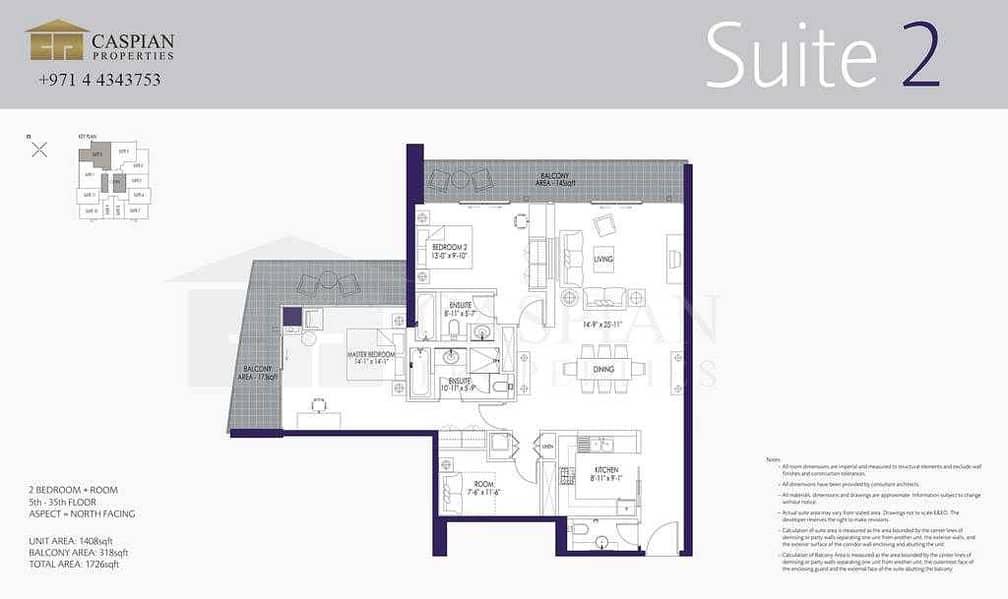 12 2 Bedroom Plus Study | High Floor | Rented