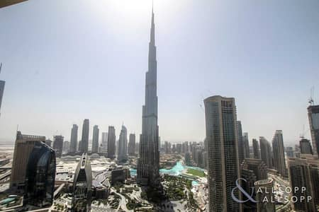 4 Bedroom Apartment for Rent in Downtown Dubai, Dubai - 4 Bed + Maids | Full Burj View | Serviced