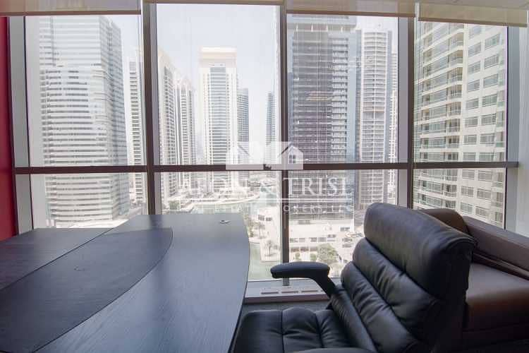 Fitted and Furnished Office with Lake View in JLT