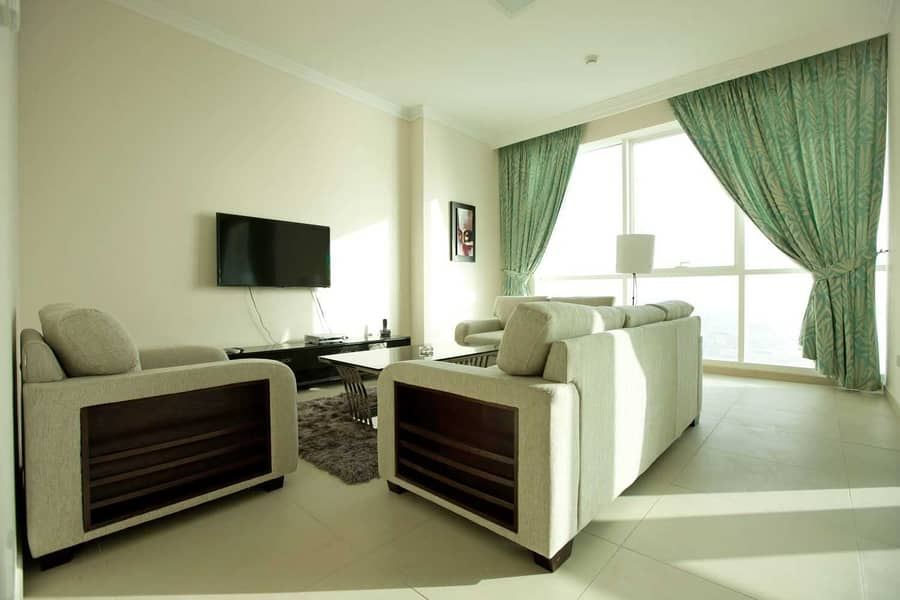 2 Sea View | Private Beach Access | 2 Bed plus Maid