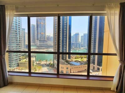 1 Bedroom Apartment for Rent in Jumeirah Beach Residence (JBR), Dubai - Rare 1 Bed Full Panoramic Marina view Big balcony