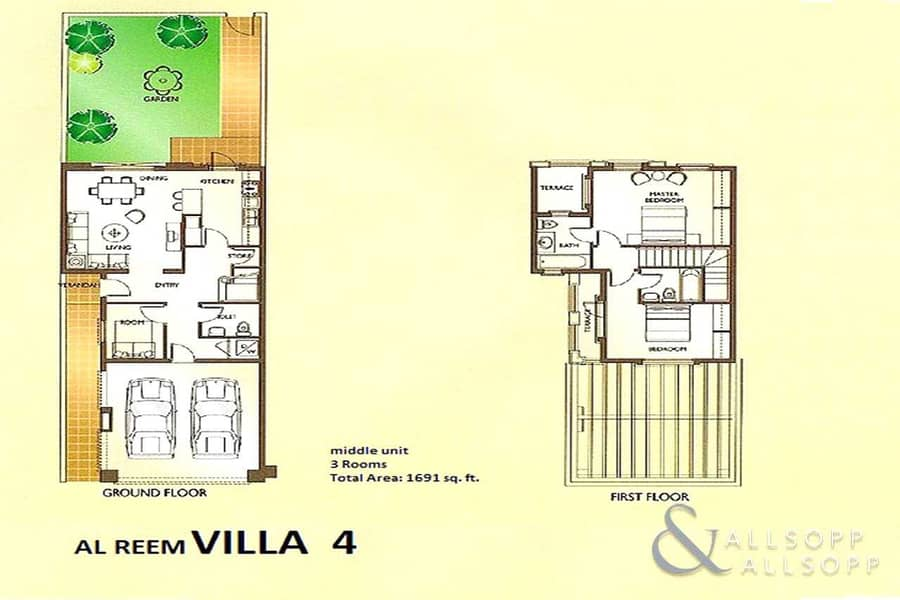 10 2 Bedrooms | Opposite Parks | Single Row