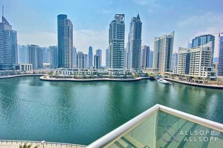 شقة 2 غرفة نوم للبيع في دبي مارينا، دبي - Panoramic Marina View | Two Bedroom | Low Floor | Immaculate Condition