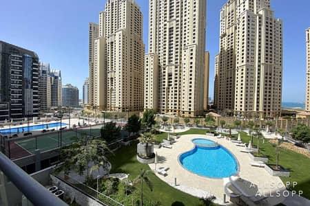 شقة 1 غرفة نوم للبيع في دبي مارينا، دبي - Vacant   1 Bedroom   Sea and Marina Views