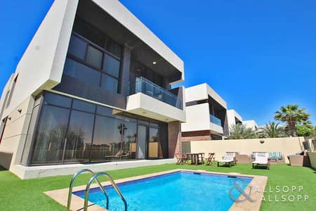 5 Bedroom Villa for Sale in DAMAC Hills (Akoya by DAMAC), Dubai - Vacant On Transfer   5 Bed   Golf Course View