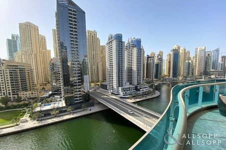 2 Bedroom Flat for Sale in Dubai Marina, Dubai - Huge Terrace Balcony   Full Marina Views