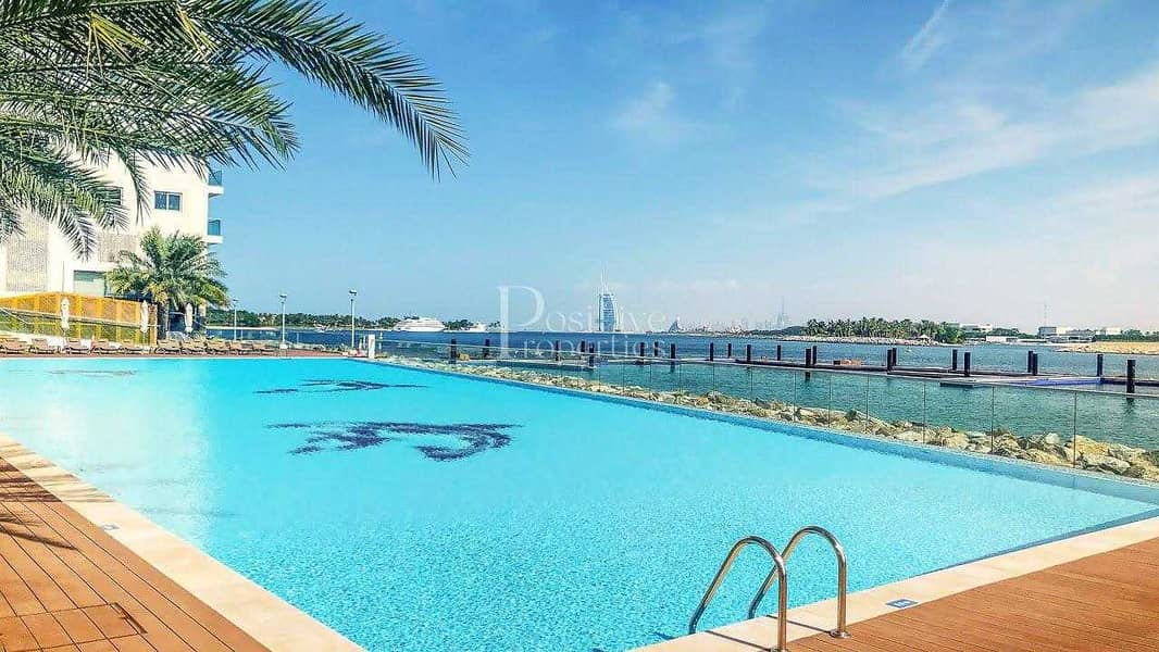 Pool Side   Full Burj Al Arab View   Well Maintained   Chiller Free