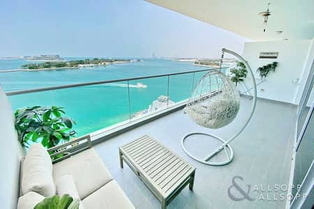 شقة 1 غرفة نوم للبيع في نخلة جميرا، دبي - Panoramic Sea Views | 1 Bed | 1