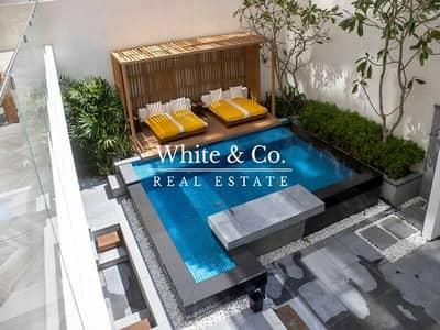 4 Bedroom Townhouse for Sale in Palm Jumeirah, Dubai - Luxurious Garden Duplex   Pool   Jacuzzi