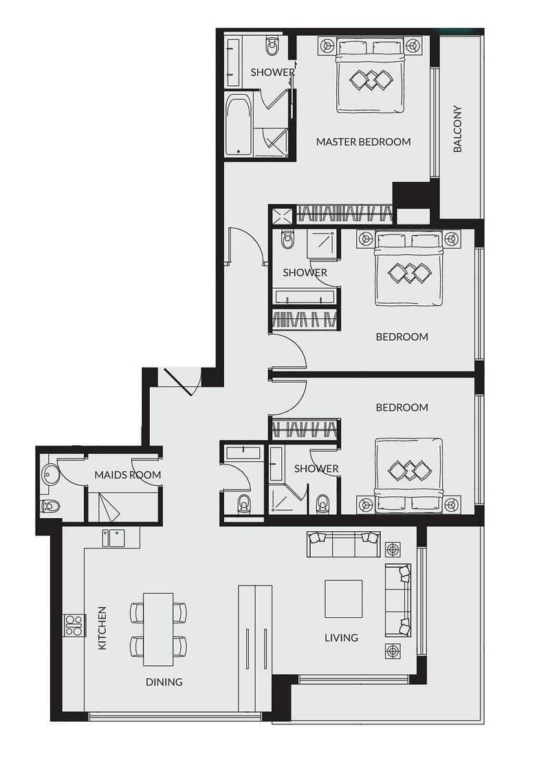 18 Immaculate Finish | Marina View | 3 Beds