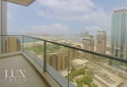 فلیٹ 2 غرفة نوم للايجار في دبي مارينا، دبي - Full Sea/ Palm View   Spacious   Unfurnished