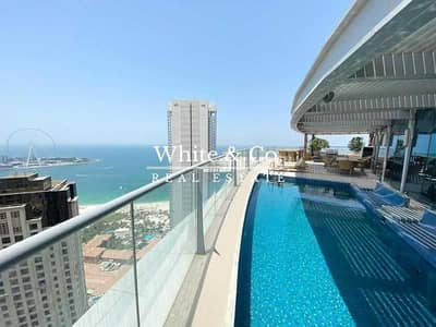 4 Bedroom Penthouse for Sale in Dubai Marina, Dubai - Penthouse - Sunset - Swimming Pool - 3x Floors