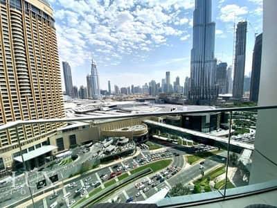 فلیٹ 1 غرفة نوم للايجار في وسط مدينة دبي، دبي - All Bills   Burj Khalifa View   Available Now