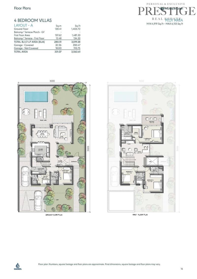 11 4 Beds Large Villa | corner plot | Murooj Al Furjan