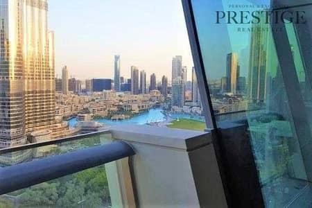 3 Bedroom Flat for Rent in Downtown Dubai, Dubai - 3BR + Maid | Burj khalifa and Fountain View