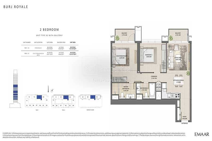 10 Exclusive|Full Burj View |Top Layout| RESALE
