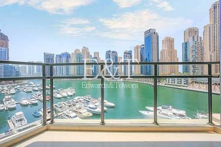 فلیٹ 2 غرفة نوم للايجار في دبي مارينا، دبي - Full Marina View from Low Floor