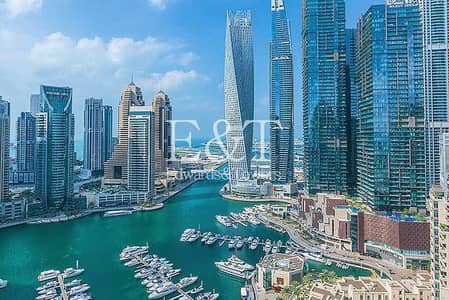3 Bedroom Apartment for Rent in Dubai Marina, Dubai - Full Marina View|High Floor|Vacant|Unfurnished
