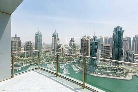 فلیٹ 3 غرف نوم للبيع في دبي مارينا، دبي - Upgraded|High Floor with Full Marina View and VOT