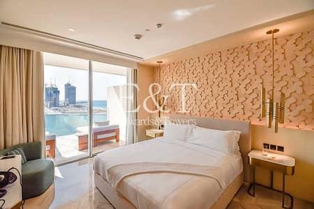 شقة فندقية 1 غرفة نوم للبيع في نخلة جميرا، دبي - Full Sea View  Hotel Suite   Serviced   PJ
