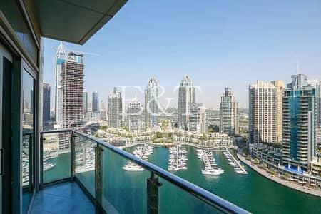 فلیٹ 1 غرفة نوم للايجار في دبي مارينا، دبي - Exclusive: Full Marina View   Available 10th July