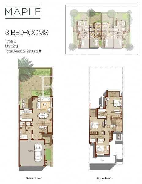 15 3 Beds + Maid's | Maple Dubai Hills | No Agents