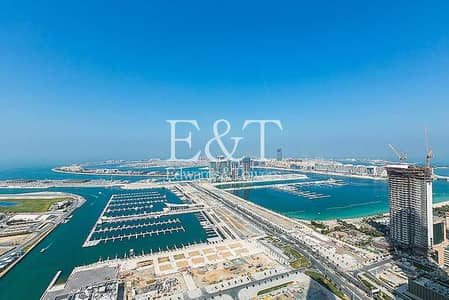 3 Bedroom Flat for Rent in Dubai Marina, Dubai - Full Sea View   High Floor   Fendi   Unfurnished