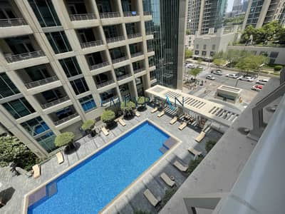 1 Bedroom Apartment for Rent in Downtown Dubai, Dubai - Burj Khalifa View - Pool View  - Exclusive