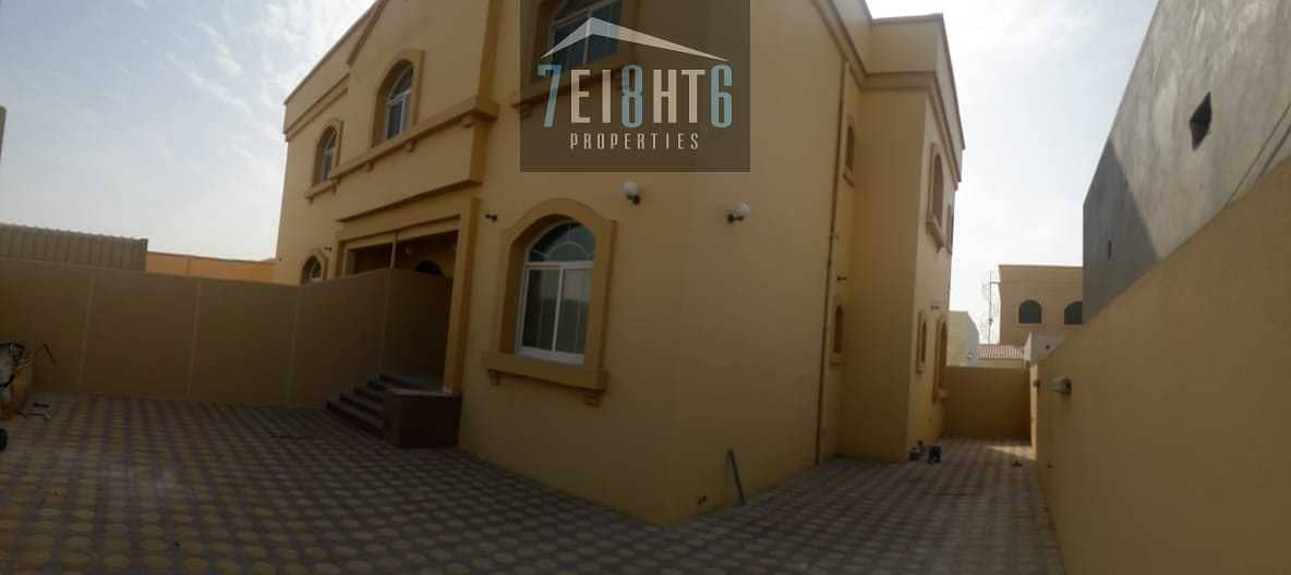 Amazing value: 3 b/r good quality semi-independent villa + large garden for rent in Khawaneej 1