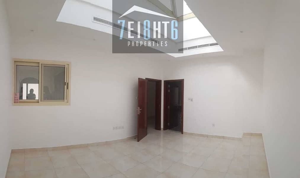 2 Beautifully presented:4 b/r good quality semi-independent villa + maids room + large garden for rent in Khawaneej 1