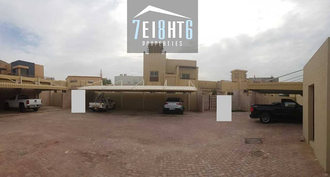 9 Beautifully presented:4 b/r good quality semi-independent villa + maids room + large garden for rent in Khawaneej 1