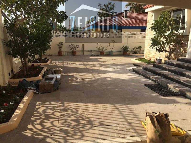 2 3 b/r semi-independent ground floor villa + maids room + private garden + large sharing s/pool for rent in Umm Al Sheif