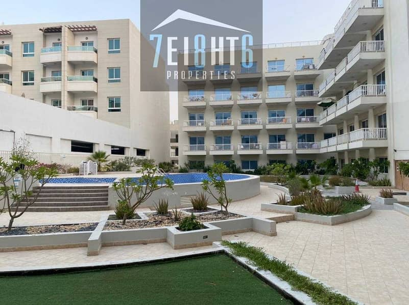 13 FULLY FURNISHED: 2 b/r good quality apartment + BALCONY + s/pool for rent in JVC
