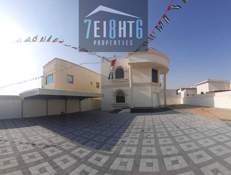 Outstanding property: 3 b/r good quality independent villa + large garden for rent in Khawaneej 2