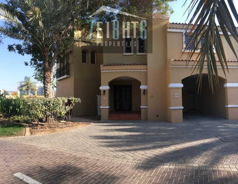 11 Beautifully presented: 4 b/r good quality semi-indep villa + maids room + large garden for rent Al Sufouh