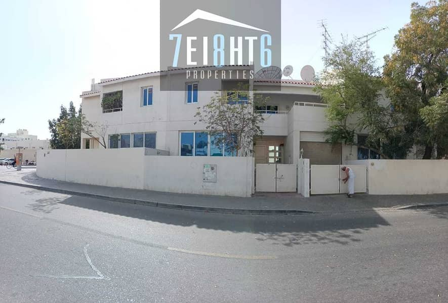 Outstanding property: 4 b/r good quality compound villa + maids room + large garden for rent in Abuhail