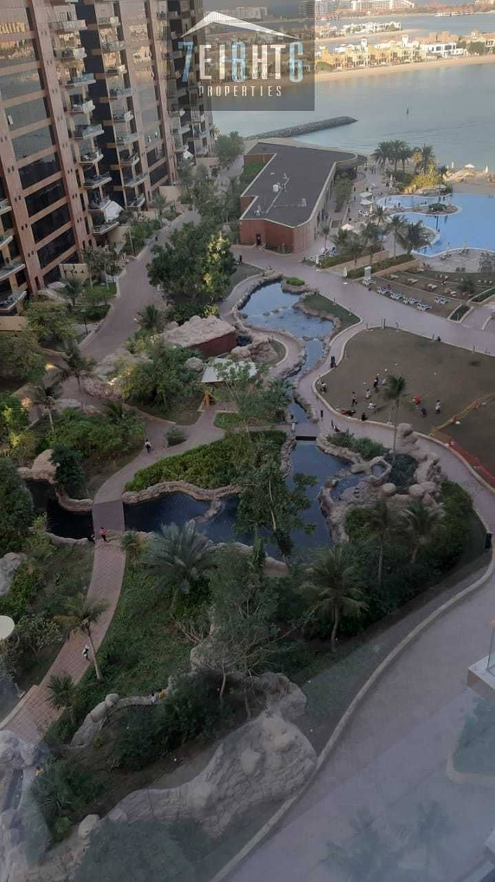 10 Stunning city view apartment: 1 b/r  + shared s/pool + Gym for rent in Palm Jumeirah
