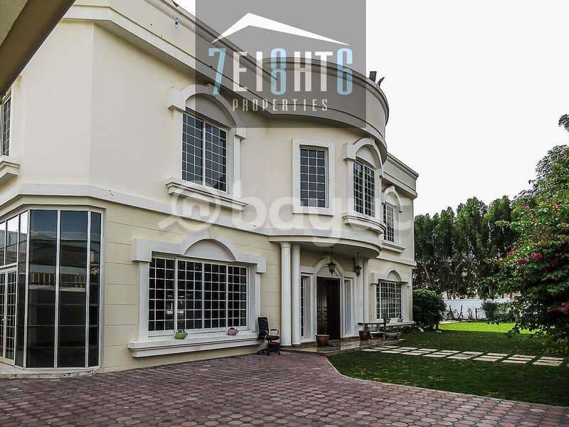 2 Outstanding property: 5 b/r good quality independent villa + maids room + drivers room  + PRIVATE s/pool + large garden