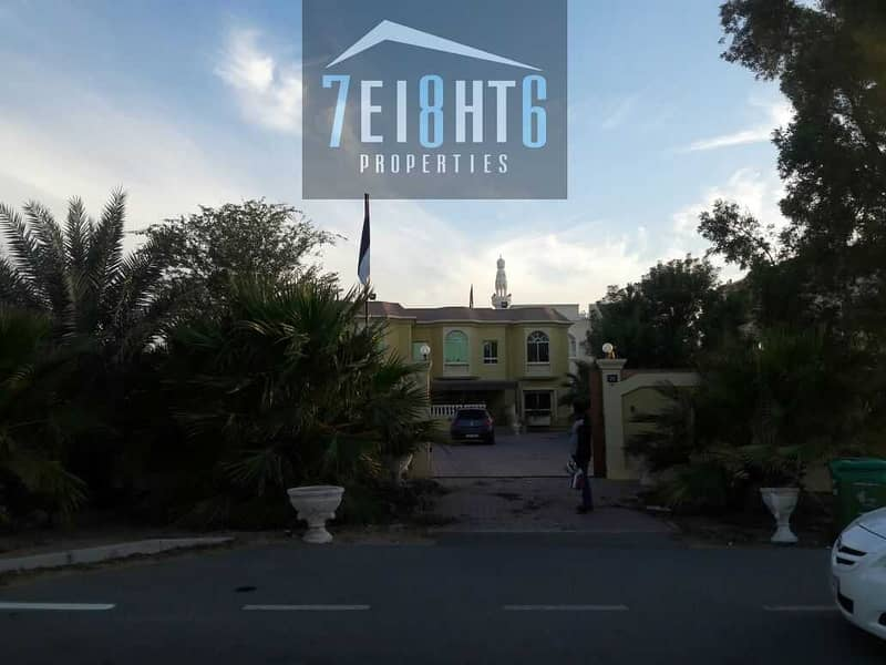 19 Outstanding quality: 5 b/r indep villa + maids room + large landscaped garden for rent in Mizhar 1