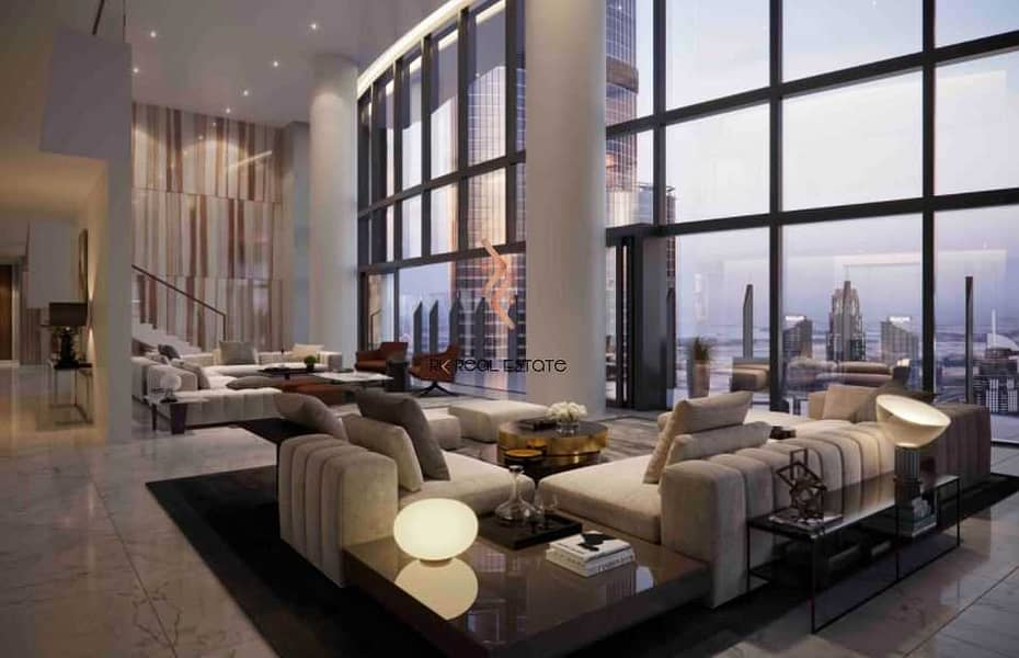 2 Grand Living Room with Theatrical Space