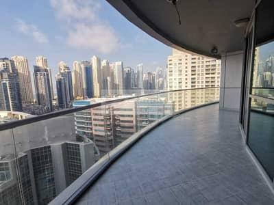 شقة 3 غرف نوم للايجار في دبي مارينا، دبي - Fully Furnished  Marina View  Vacant 3 Bedroom Apt