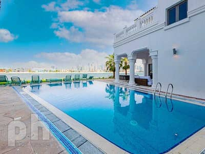 7 Bedroom Villa for Rent in Palm Jumeirah, Dubai - With Central Pool   Upgraded   Vacant Now